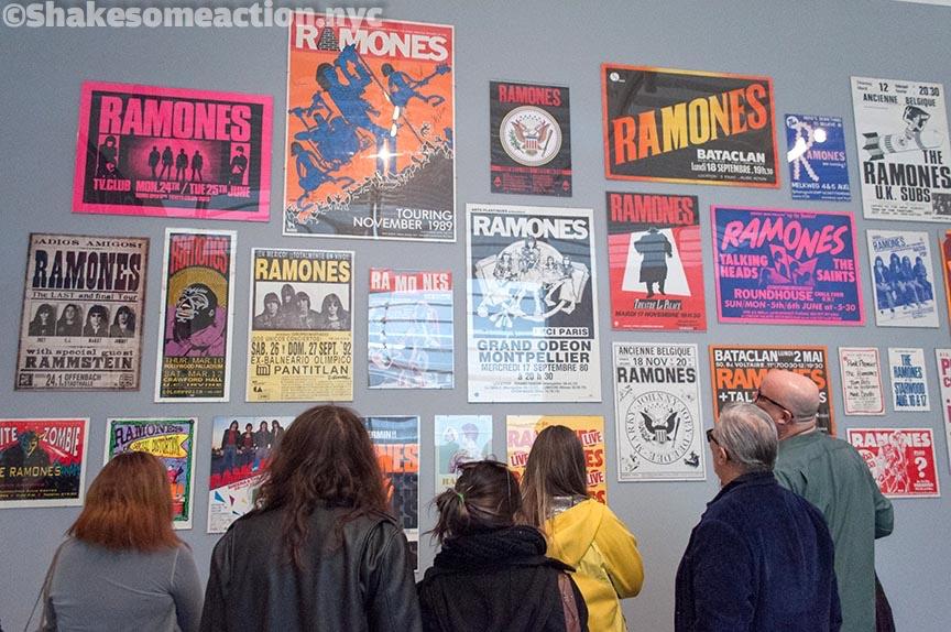The Ramones exhibit at the Queens Museum.
